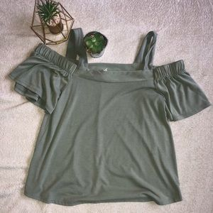 Olive green shirt from Francesca's